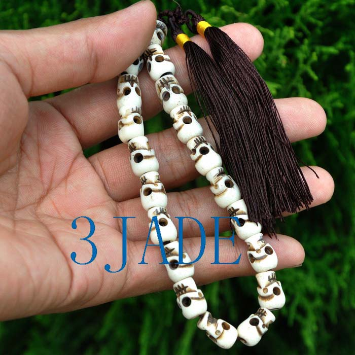 Details about Tibetan Carved Bone Skull Mantra Meditation Buddhist Prayer  Beads Wrist Mala