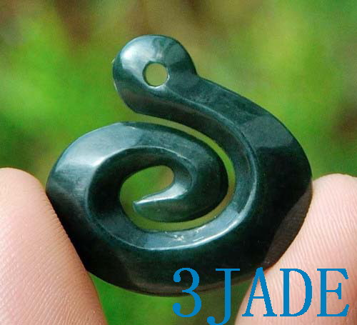 Nephrite jade koru pendant greenstone pounamu necklace new zealand store categories aloadofball Image collections