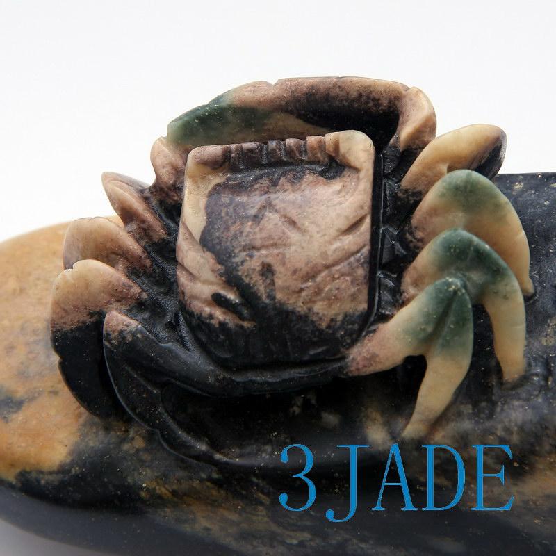 Natural shoushan stone agalmatolite carving crab